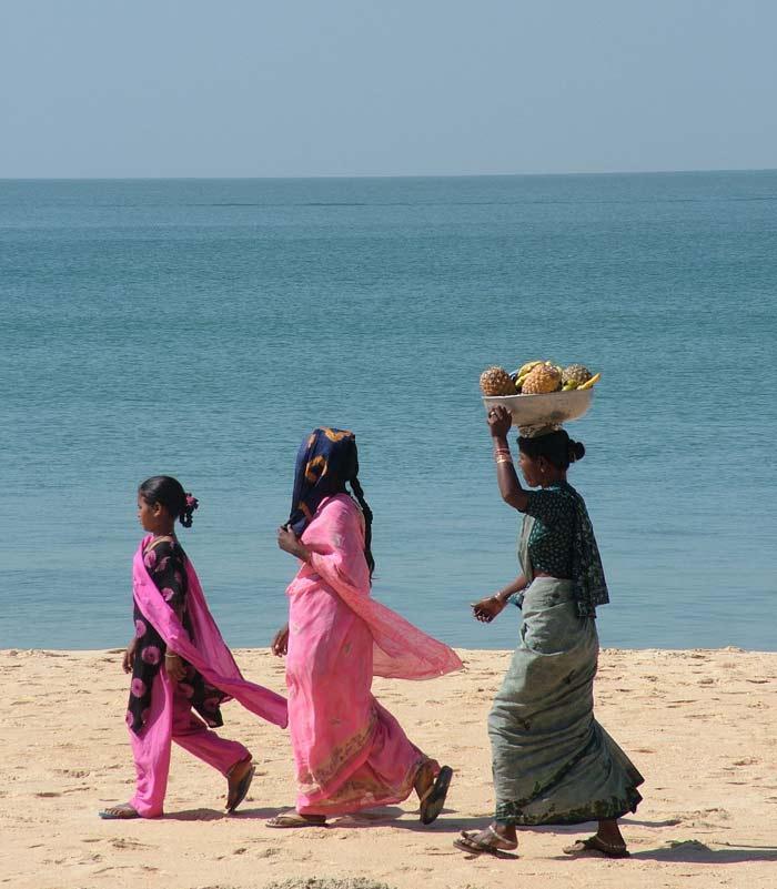 Beach scene in Goa, Fluidsymmetry