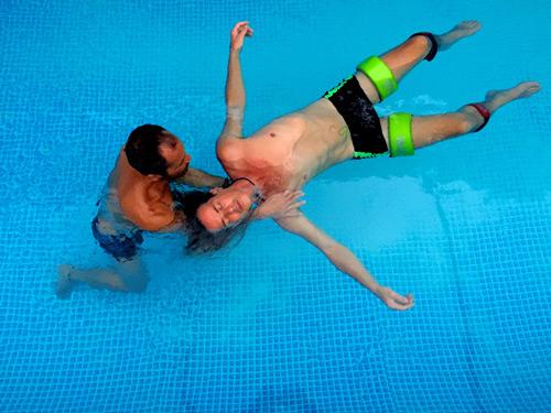 fluidsymmetry aquatic bodywork watsu session in Agonda Goa India